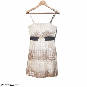 Max and Cleo cream variegated  formal mini dress size 4
